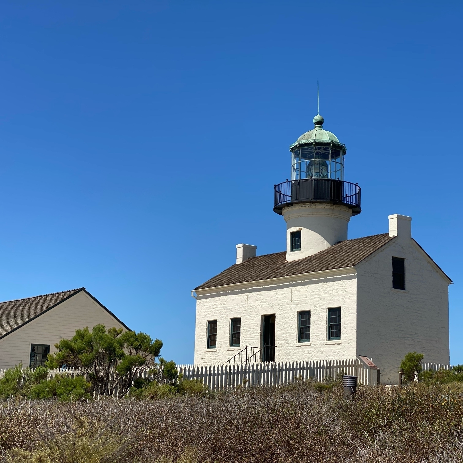 Restored Point Loma lighthouse